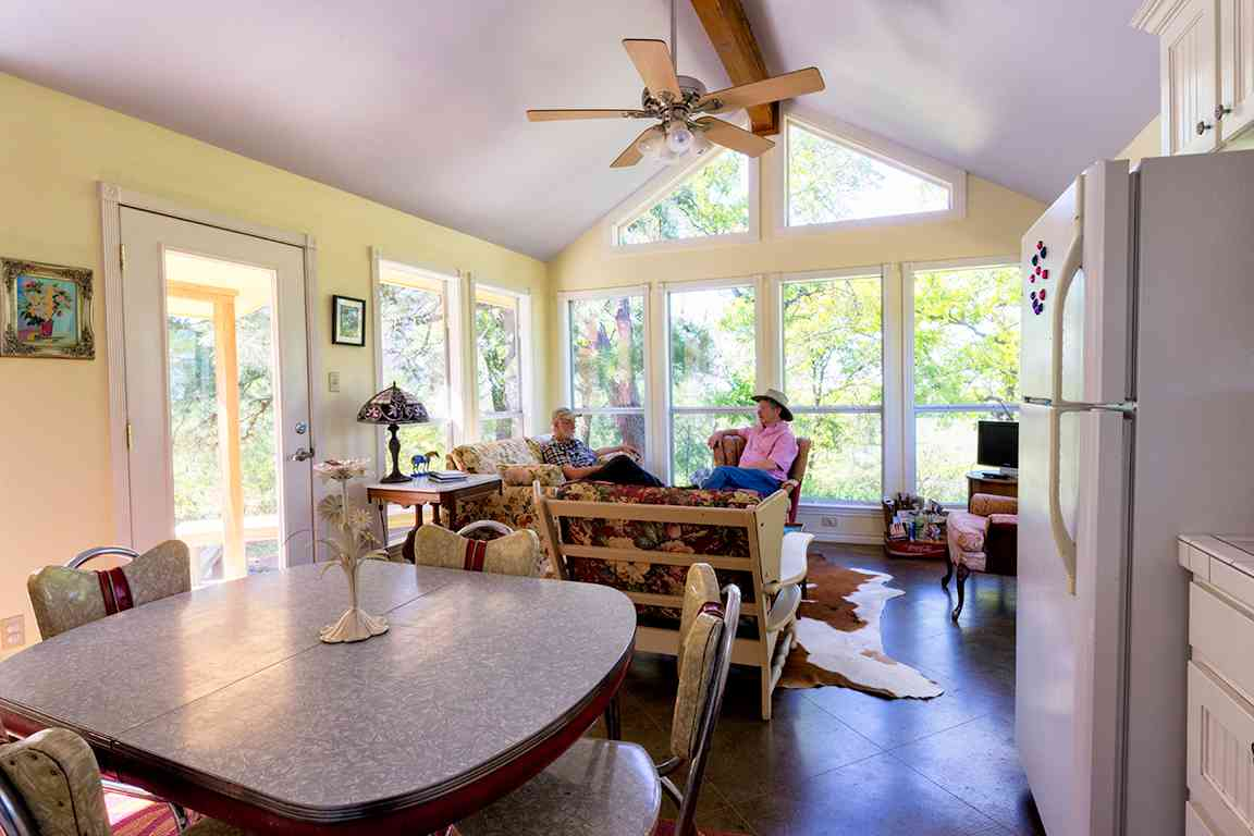 The Two Bedroom Texas Daisy Cabin Accommodations Includes Queen Beds In  Each Bedroom And A Sleeper Sofa In The Living Room. The Kitchen Is Fully  Furnished ...